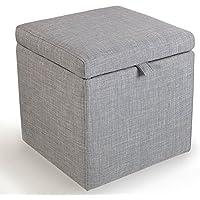 Preisvergleich für Yuan Polsterhocker Massivholz-Leinen-Tuch-Speicher-Schemel-Schuh-Bank-Foyer-Sofa-Schemel-Wohnzimmer-Schlafzimmer-Frisierkommode-Einkaufsspeicher-Schemel mit Antirutschmatte/Hocker