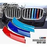Rolling Gears m-colored centro tapa de parrilla de riñón inserciones borde para BMW E70X5/directamente ajuste exacto (5-Layers pintado)