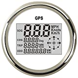Tachimetro universale GPS da 85 mm, contachilometri digitale, display LCD, 0~999 nodi, km/h, regolabile, con retroilluminazione, per barche marine, auto, camion, 9-32 V (12 V/24 V)