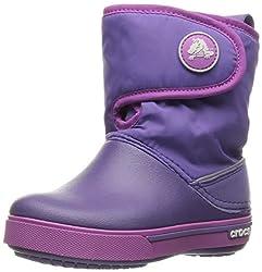 crocs Kids Unisex Crocband_ Ii.5 Gust Blue Violet/Wild Orchid Boots - J2(12905-5K4)
