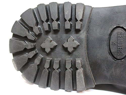 Grinders Jahrgang Herren Echtes Leder Entwerfer Western Kampf Stiefel - Herald CS Black