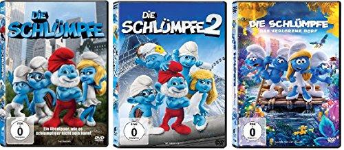 3 DVDs - Die Schlümpfe 1+2+3 das verlorene Dorf im Set - Deutsche Originalware [3 DVDs]
