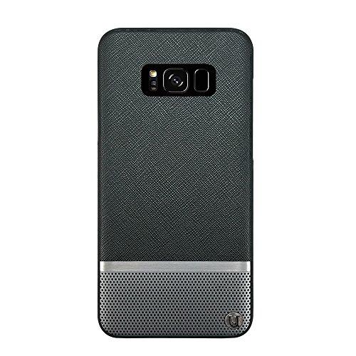 Uunique London Modus Luxe Saffiano/perforiert Hard Shell Case für Samsung Galaxy S8Plus-schwarz/Gunmetal Luxe Hard Case