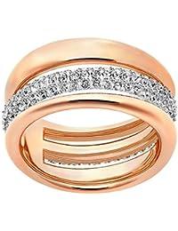 Swarovski - Anillo para mujer, cristal blanco, oro rosa,52215