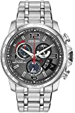 Citizen Watch Chronotime At Men's Quartz Watch with Grey Dial Analogue Display and Two Tone Stainless Steel Plated Bracelet BY0100-51H