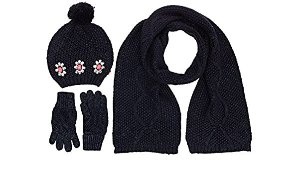 13a9e99f48a Billieblush Girl s U18052 Pull On Hat+Gloves+Scarf