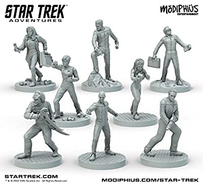 Star Trek Adventures Miniatures: The Next Generation Bridge Crew