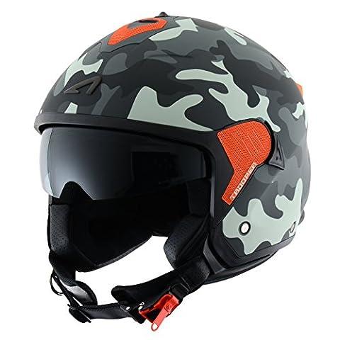 Astone Helmets Casque Jet Mini Trooper, Gris (Mat Camo Grey), M