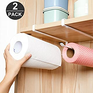 Pack of 2 Kitchen Paper Towel Roll Holder Dispenser Cabinet Cupboard Under Shelf Storage Napkins Rack