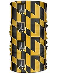 Abbigliamento Uosliks Unisex Stylish Baltimore Maryland USA Flag Quick Dry Microfiber Headwear Outdoor Magic Bandana Neck Gaiter Head Wrap Headband Scarf Face Mask Ultra Soft Elastic Handscarf