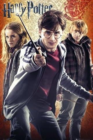 1art1 54452 Poster Harry Potter et Les Reliques de la Mort 2 Harry Hermione et Ron 91 x 61 cm