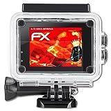 atFoliX Panzerschutzfolie für IceFox Action Cam 4k I5 Panzerfolie - 3 x FX-Shock-Antireflex blendfreie stoßabsorbierende Displayschutzfolie