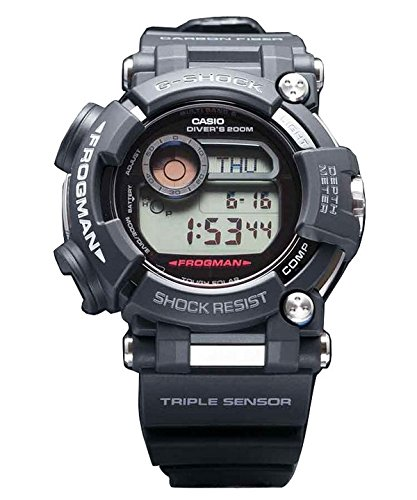 CASIO Mens Digital Solar Powered Watch with Resin Strap GWF-D1000-1ER