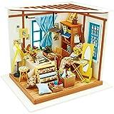 ROBOTIME DIY Dollhouse Kit Renovierung Woodcraft Bau Kit Mini Handgefertigte LED Licht Miniatur Home Decor Weihnachtsgeschenk