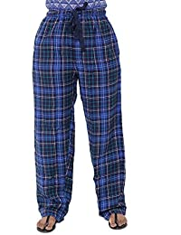 [Sponsored]Twist Womens Multicolor Checked Cotton Pyjama Night Wear With Contrast & Free Shipping