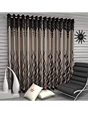 Home Sizzler Set of 4 Door Curtains - 7 Feet Long