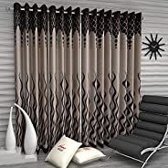 Home Sizzler Set of 4 Pieces Window Curtains - 5 Feet