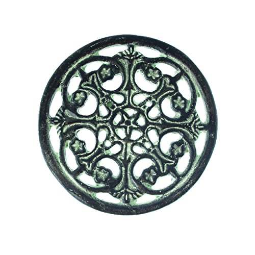 French Kitchen Collection Untersetzer, rund, Gusseisen, Antik Finish, 14x 14x 2cm