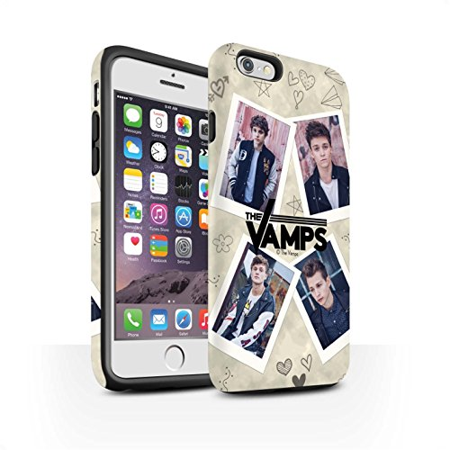 Officiel The Vamps Coque / Matte Robuste Antichoc Etui pour Apple iPhone 6S / Pack 5Pcs Design / The Vamps Livre Doodle Collection Portefeuille