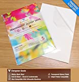 10 Sheets A4 Clear/Transparent Vinyl Glossy Self Adhesive Sticker Quality Inkjet Printable Non Waterproof Gloss Finish- Make Your own Stickers, Products Labels, Signs and More