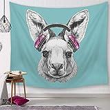LKLKS Animal Tapestries Cartoon Animal Tapestries Ebay Amazon verkauft Digitale Bedruckte Wanddecken, Strandtücher und Tischdecken,19,150x130