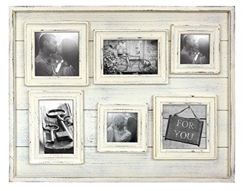 Zep S.r.l TY12A Tangeri Cadre Photo Multi Vues avec 6 Photos Bois Beige 10 x 10 cm