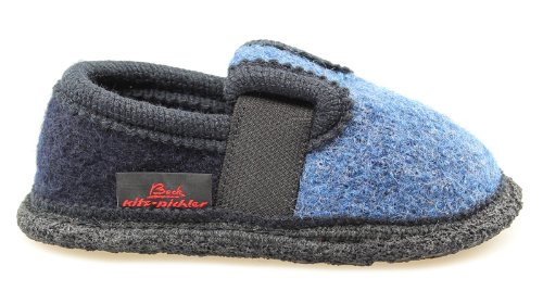 Beck Bobby 756 Pantofole Unisex, da Bambino, Colore Blu (Blue), Taglia 34 EU