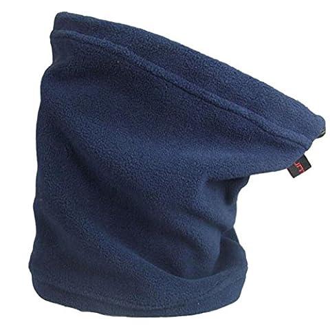 Fulltime(TM) Unisex Dual-purpose Winter Fleece Scarf Neck Warmer Face Mask Hat Skiing Cycling Hiking Ski (Blue)