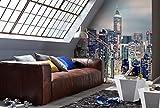 Komar - Fototapete SKYLINE - 368 x 254 cm - Tapete, Wand, Dekoration, Wandbelag, Wandbild, Wanddeko, Wolkenkratzer, Großstadt, Skyline - 8-913