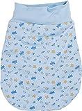 Schnizler Unisex Baby Schlafsack Strampelsack Autos und Flugzeuge mit elastischem Umschlagbund, Oeko Tex Standard 100, Blau (bleu 17), One Size