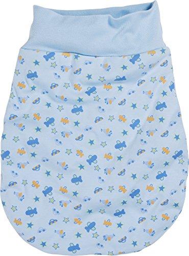 Schnizler Unisex Baby Schlafsack Strampelsack Autos und Flugzeuge mit elastischem Umschlagbund, Oeko Tex Standard 100, Gr. One size, Blau (bleu 17)