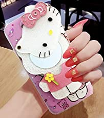 Dream2Cool Cute Makeup Mirror Hello Kitty Back Cover for Xiaomi Redmi Note 5 Pro - Multi Colour