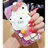 Dream2Cool Cute Makeup Mirror Hello Kitty Back Cover For XRedmi Note 5 Pro - Multi Colour