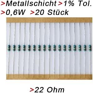 Metallschicht-Widerstand 56 Ohm 1/% 0,6W Bauform 0207 gegurtet