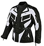 Bangla Motorradjacke Touren Motorrad Jacke Textil Schwarz Weiss 1535 4XL