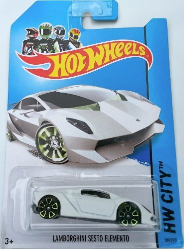 Hot Wheels 2014 HW City Lamborghini Sesto Elemento 39/250 Long Card