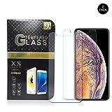 iPhone XS Max Schutzfolie, Displayschutzfolie iPhone XS Max, 2,5D abgerundete Kanten 0,33mm HD Ultra Transparent 9H Härte Schutzfolie für iPhone XS Max 6.5 Inch