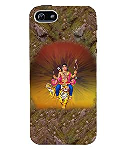 Fuson 3D Printed Lord Kartikeya Designer Back Case Cover for Apple iPhone 5S - D515