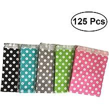 7345308a8 NUOLUX 125Pcs Bolsas de papel de lunares,5