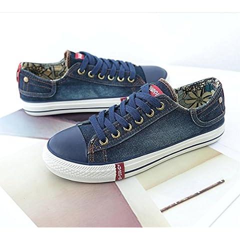 MENGYZ Fondo piatto scarpe tela scarpe primavera autunno studente scarpe