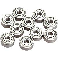 Radial rodamientos de bolas - SODIAL(R)10 Pieces miniatura Radial rodamientos de bolas 623ZZ 3x10x4mm para RC Car Practico