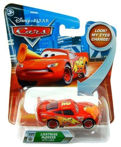 Image of Disney Pixar R8175 Cars Lenticular Eyes #127 Lightning McQueen 1:55 Diecast Vehicle Car