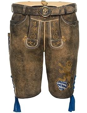 Spieth & Wensky Herren Kurze Lederhose Fayern 45 cm