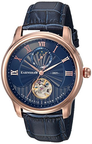 Thomas Earnshaw Mixte Adulte Phase de Lune Automatique Montre avec Bracelet en Cuir ES-8066-06