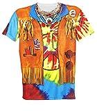 Widmann 98681 T-shirt Hippie für Männer, Medium