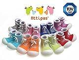 Attipas Sneakers Pink - ergonomische Baby Lauflernschuhe, atmungsaktive Kinder Hausschuhe ABS Socken Babyschuhe Antirutsch 20