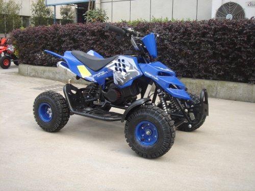 Mini ATV Easy Pullstart Quad Pocketquad Kinderquad Kinderfahrzeug Repti (Blau)