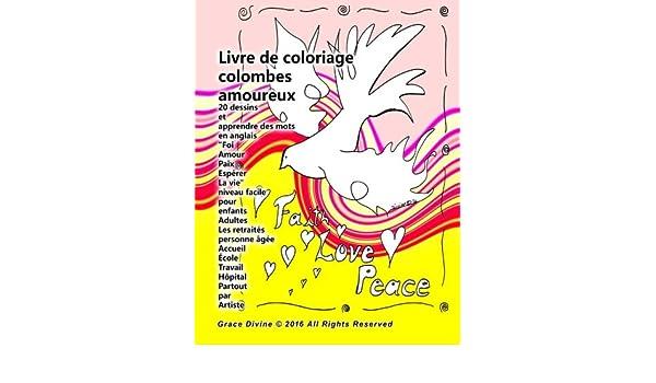 Buy Livre De Coloriage Colombes Amoureux 20 Dessins Et
