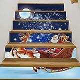 LIZHIOO Treppenaufkleber Weihnachten Verkleiden Sich Treppen Aufkleber Unter Dem Weihnachtsmann Treppen Dekorative Wandaufkleber (100cm*18cm) 13pcs
