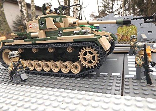 Modbrix 2508 - ☠ Bausteine Panzer IV Ausf. F1 Totenkopf Division inkl. Custom Elite Wehrmacht Soldaten aus Lego© Teilen ☠ thumbnail